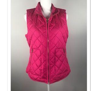 Old navy hot pink puffer vest